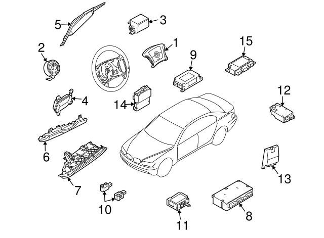 2002 2008 bmw head air bag 72 12 9 143 353 germain bmw parts GM Air Conditioning Diagram