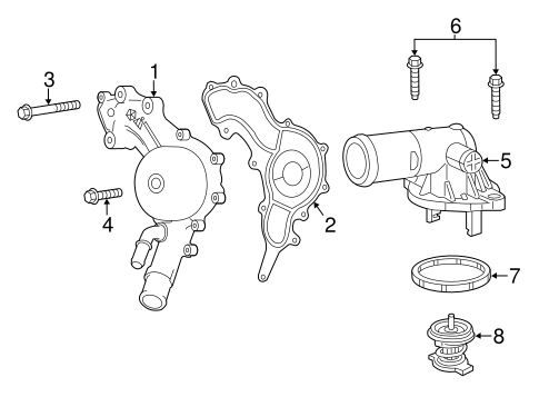 Water Pump For 2016 Dodge Charger