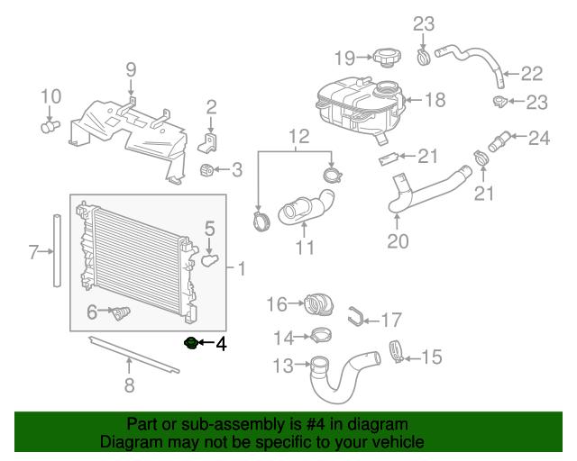 GM OEM-Radiator Lower Insulator 90501087