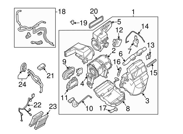 Nissan 4 Fin Blower Motor Control Module Quest Pathfinder Armada