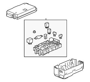 genuine oem fuse relay box part 25908815 fits 2008. Black Bedroom Furniture Sets. Home Design Ideas