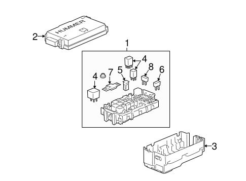 oem 2008 hummer h3 fuse relay parts. Black Bedroom Furniture Sets. Home Design Ideas