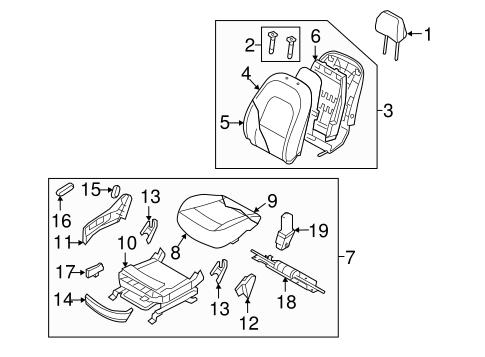 Front Genuine Hyundai 88160-3J001-R7C Seat Cushion Covering