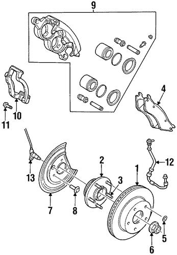 brake components for 2000 dodge ram 1500