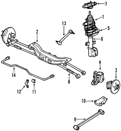 oem 2000 chevrolet impala rear suspension parts