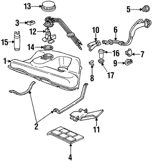 Oem 1992 Cadillac Seville Senders Parts