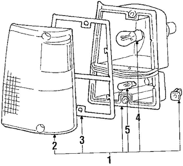 1984 1991 Mitsubishi Montero Signal Lamp Assembly Mb283671