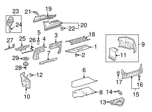 Toyota Camry Body Parts Diagram