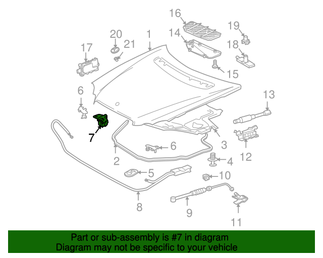 Safety catch mercedes benz 230 880 01 64 for Mercedes benz part numbers list