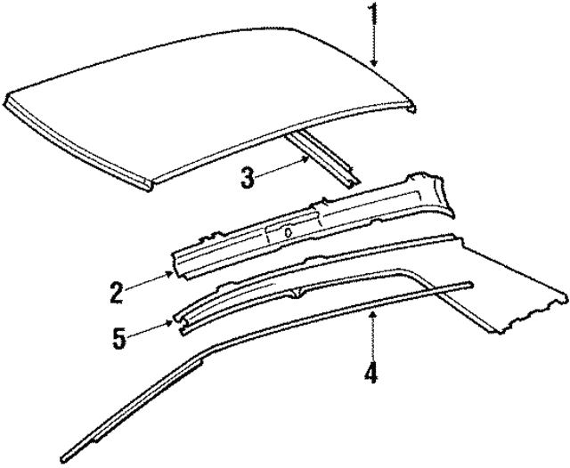 Side Rail - Mercedes-Benz (201-637-01-46)