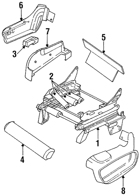 Tracks Components For 1996 Chrysler Town Country