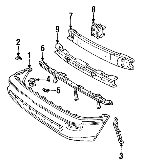BODY/BUMPER & COMPONENTS - FRONT for 1996 Toyota Corolla #1