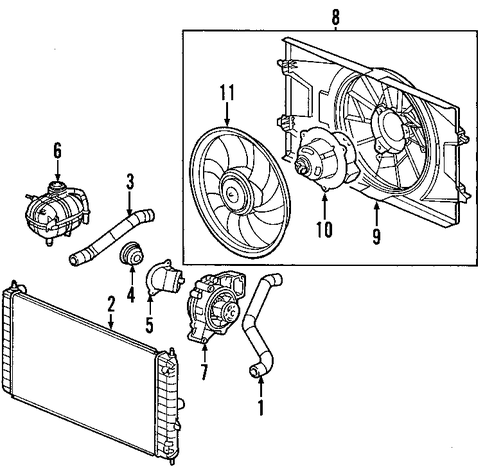 Buick Parts further 296614 additionally 07 Pontiac G6 Thermostat Location together with Pontiac G6 2007 Wiring Diagram additionally North Star V8 Engine Diagram. on pontiac solstice water pump