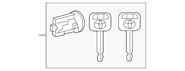 genuine toyota ignition lock cylinder 69057