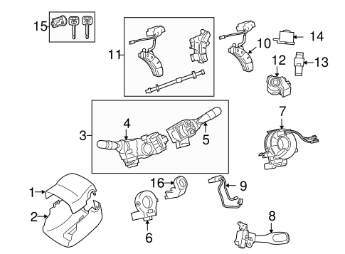 STEERING/SHROUD, SWITCHES & LEVERS for 2005 Toyota Tacoma #1