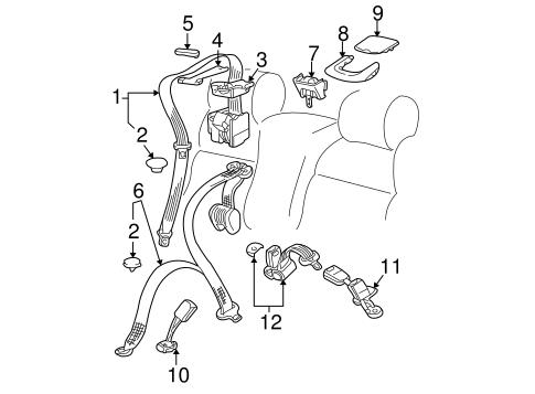 Rear Seat Belts For 2005 Volkswagen Passat