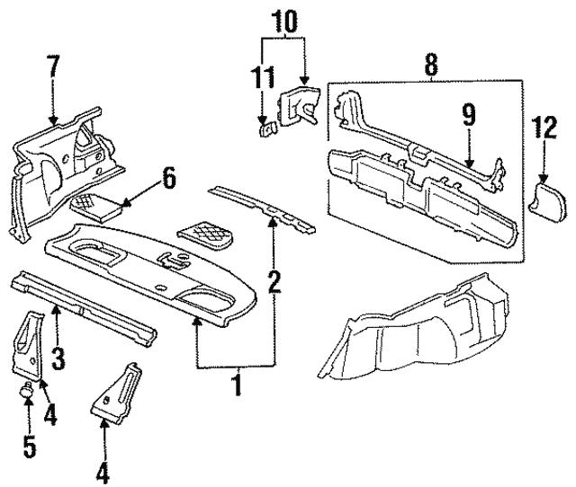 1994 1997 Honda Grille Assembly R Speaker G38l Jade Green 84518
