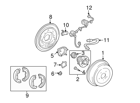 BRAKES/REAR BRAKES for 2006 Toyota Sienna #3