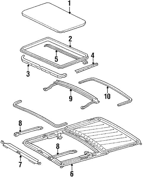[XOTG_4463]  Sunroof for 1985 Mercedes-Benz 500 SEC | MB OEM Parts | Mercedes 500sec Engine Diagram |  | MB OEM Parts