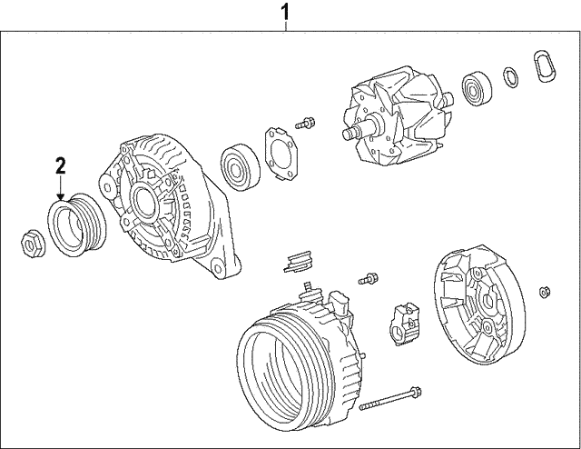 Alternator - Toyota (27415-0W021)
