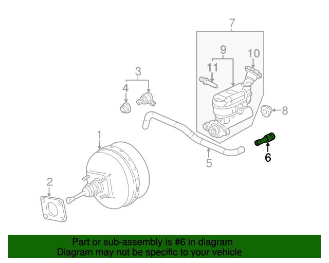 vacuum hose connector - gm (24504220)