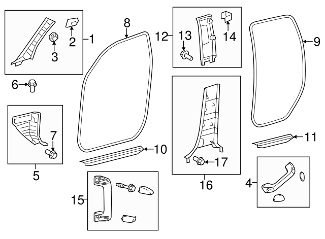 Toyota 61236-0C010 Assist Grip Bracket