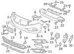 Plate, Front Bumper Middle Induction - Honda (71202-TBC-A50)