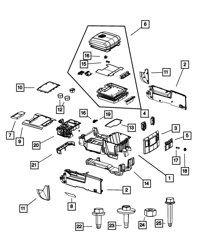 CHRYSLER OEM Center Console-Extension Panel Right 1HR96DK2AC