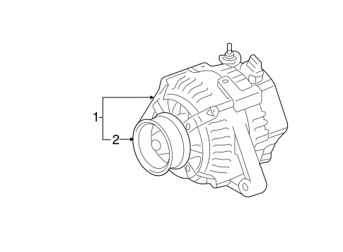 Genuine Oem Alternator Parts For 2007 Toyota Camry Se