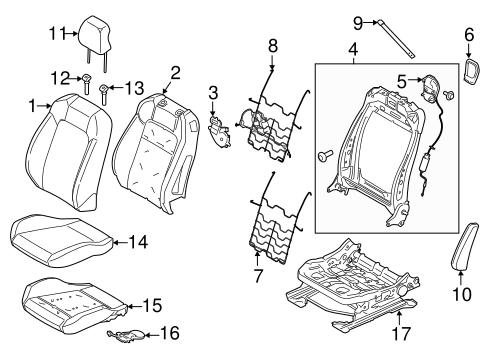 Front Seat Components For 2016 Ford Mustang