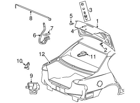 Oem 2002 Pontiac Grand Am Lid Components Parts