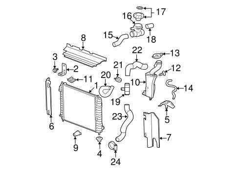 radiator & components for 2008 chevrolet hhr 2006 hhr fuel system diagram
