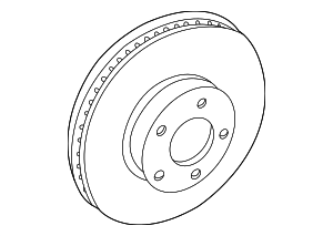 Disc Brake Rotor - Ford (DR3Z-1125-C)