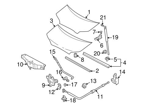 Hood Amp Components For 2003 Hyundai Santa Fe Gossett Parts