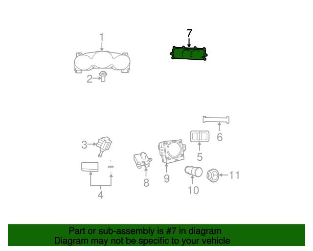 Control-A//C And Heater Genuine Mopar 55111937AB