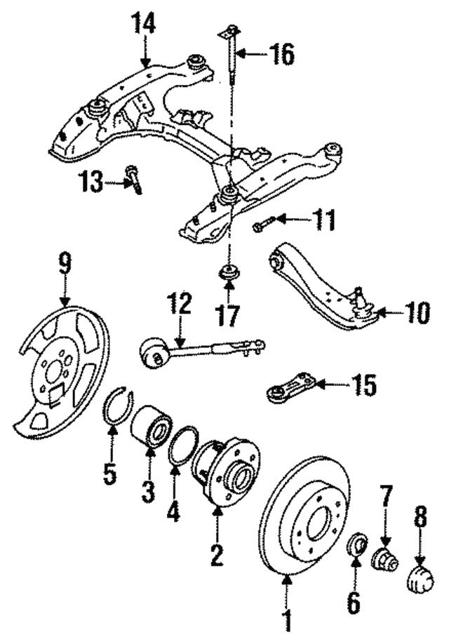 1993 1997 Infiniti J30 Lower Control Arm 54501 0p050