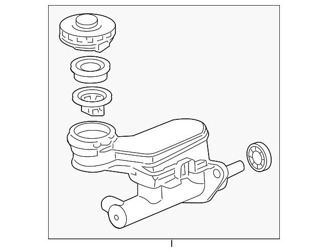 2009 2015 Honda Pilot 5 Door Master Cylinder Assembly 46100 Sza A02