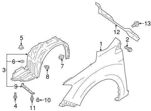 Fender Components For 2018 Subaru Crosstrek