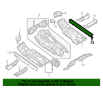 Floor Side Rail - Audi (8R0-803-780-B)