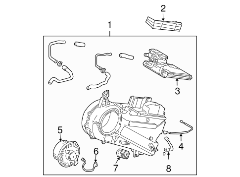 HVAC/EVAPORATOR COMPONENTS for 2008 Toyota Sienna #1