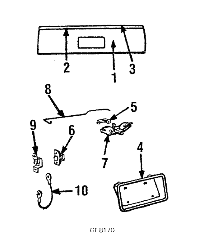molding gm 9635083 gmpartsdirect El Camino SS Conquista part can be found as reference 3 in illustration