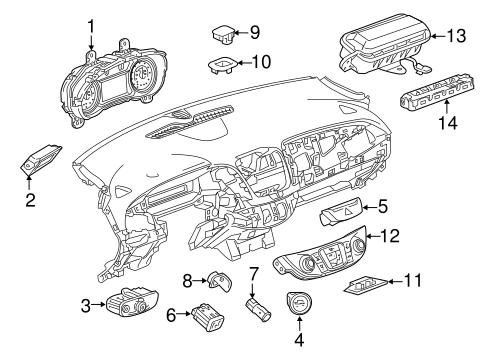 oem 2016 chevrolet malibu ignition lock parts