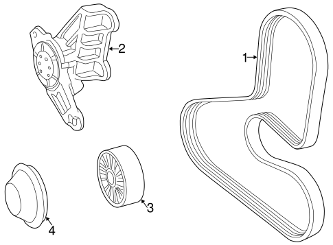 Belts Pulleys For 1999 Volvo C70