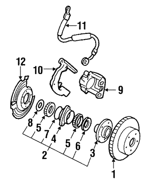 Front Brakes For 1996 Jeep Cherokee