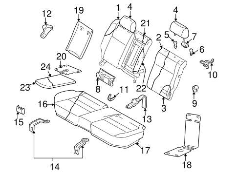 Rear Seat Components For 2001 Subaru Outback
