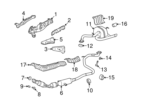 EXHAUST SYSTEM/EXHAUST MANIFOLD for 2014 Scion xD #1