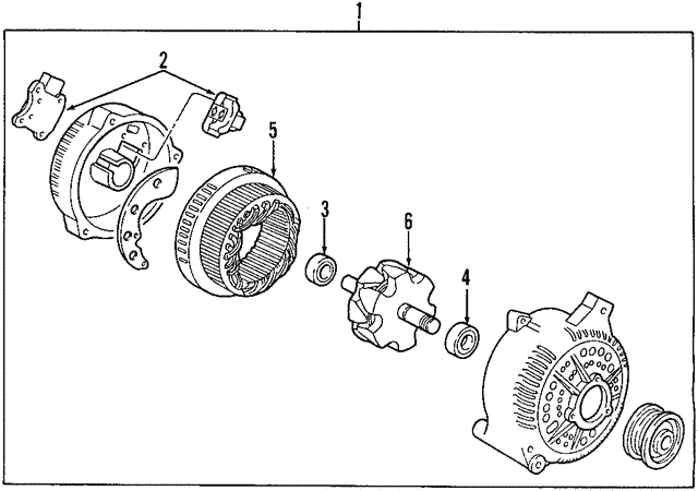 Alternator - Ford (6C2Z-10346-CA)