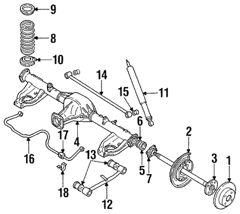 Rear Suspension for 1989 Isuzu Impulse | XportAuto