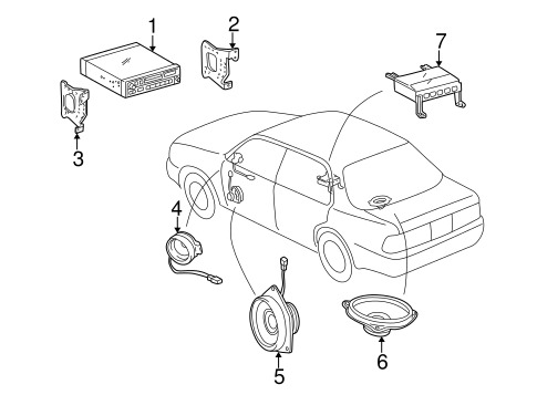 BODY/SOUND SYSTEM for 1998 Toyota Camry #1
