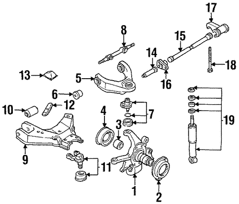 Front Suspension/Suspension Components for 1994 Nissan D21 #1